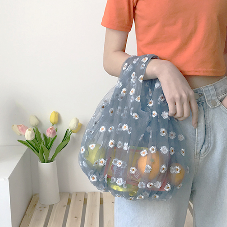 2020新作 エコバッグ  花柄 ガーゼ製   トートバッグ ショッピングバッグ  かわいい  春 夏