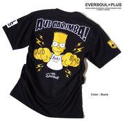 ★THE SIMPSONSザ・シンプソンズの大人気キャラクターバートが背中に大きく描かれたクールなTシャツ★