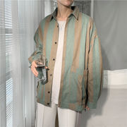 シャツ 長袖 トップス ストライプ ポケット付き ゆったり