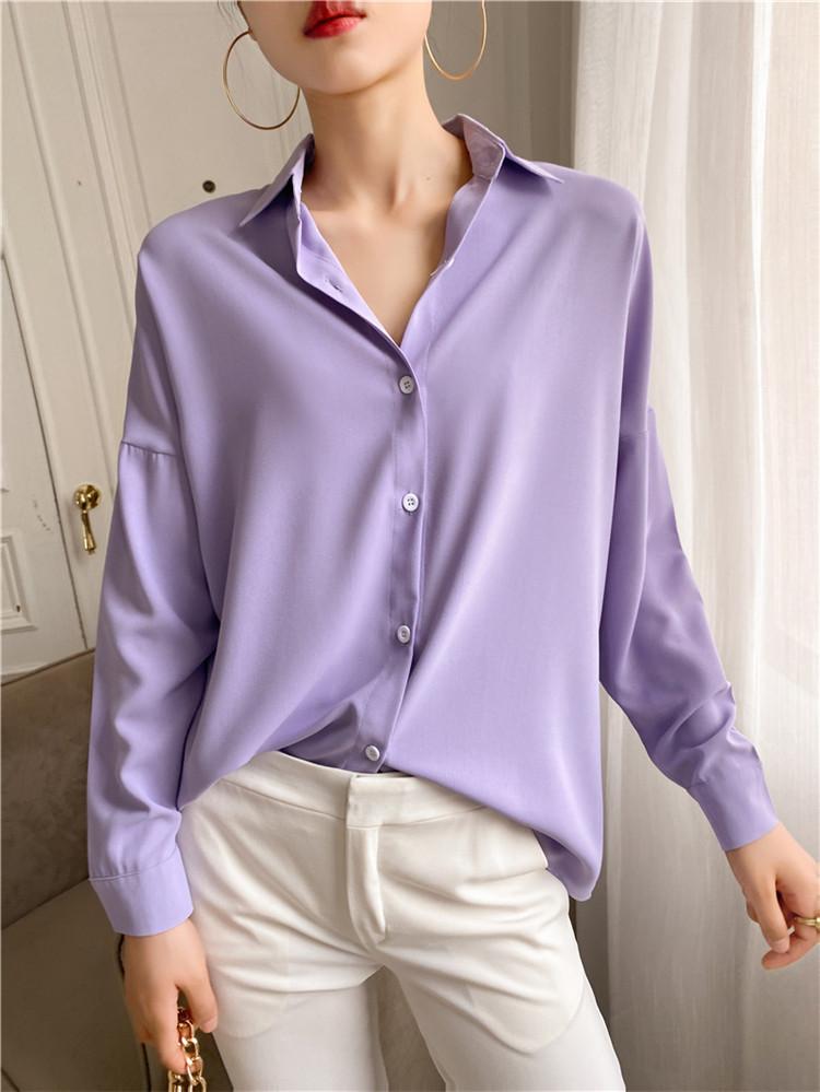 大人気 レトロ シンプル 高品質 ゆったりする 長袖 シャツ INSスタイル エレガント