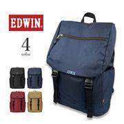全4色 EDWIN エドウイン ロゴ刺繍 フラップ ダブルバックル 巾着 バックパック リュック
