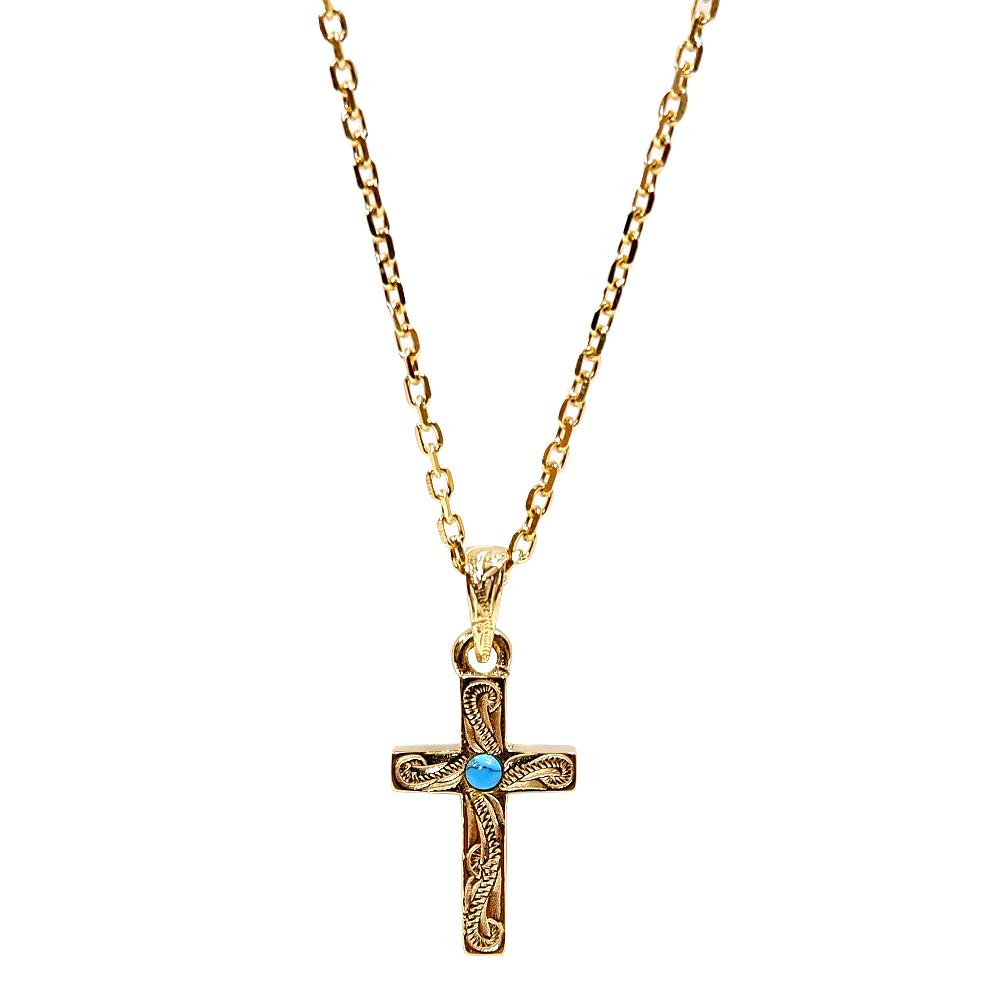 ハワイアンジュエリー 十字架 ターコイズ ネックレス  サージカル ステンレス  インスタ sale