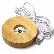 LED照明台座 USB接続 発光ディスプレイ什器【FOREST 天然石 パワーストーン】