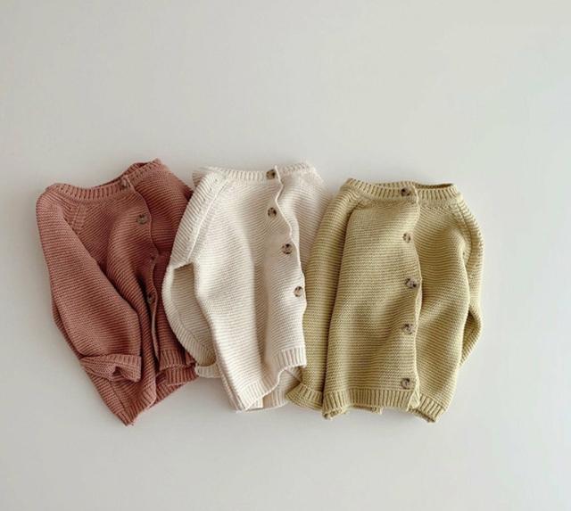 秋 子供セーター 女の子 男の子 無地 子供服 トップス ニット コート 3色