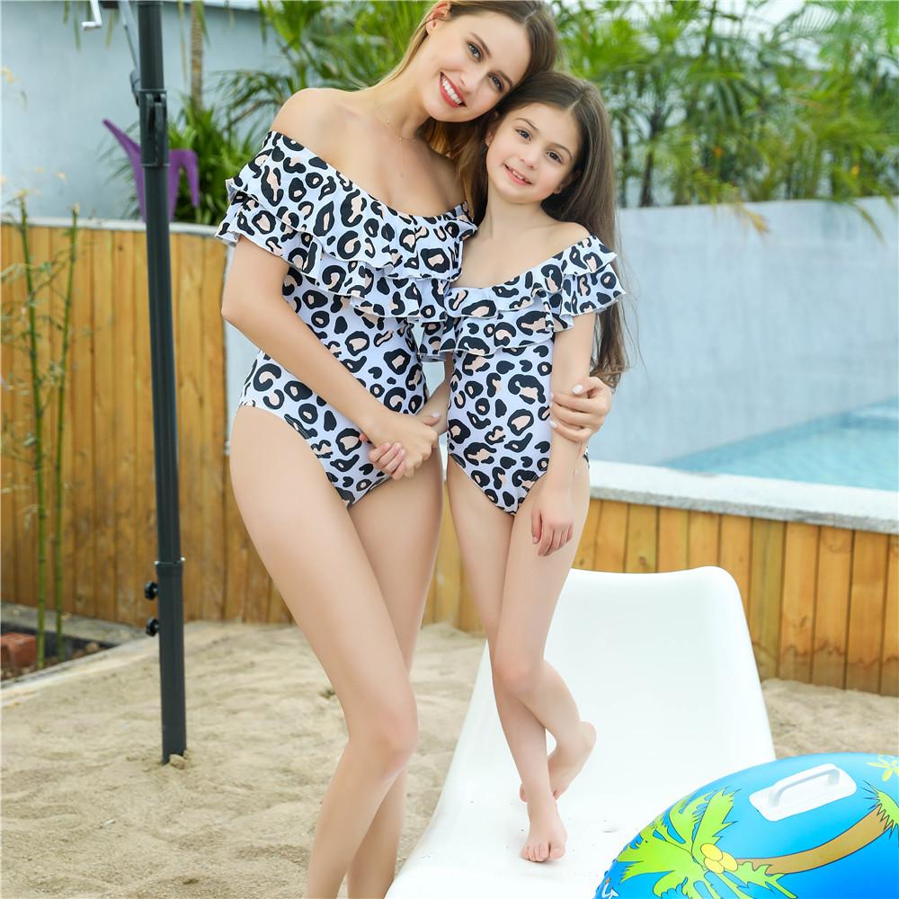 夏新作 ワンピース型水着 親子水着 ビキニ Bikini レディース水着 人気水着 ins大人気
