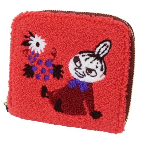 【コインパース】ムーミン サガラ刺繍カードケース レッド