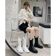 見逃し禁止! 人気沸騰 韓国ファッション 2020 秋 新品 厚底 ショートブーツ オシャレ シンプル 快適である