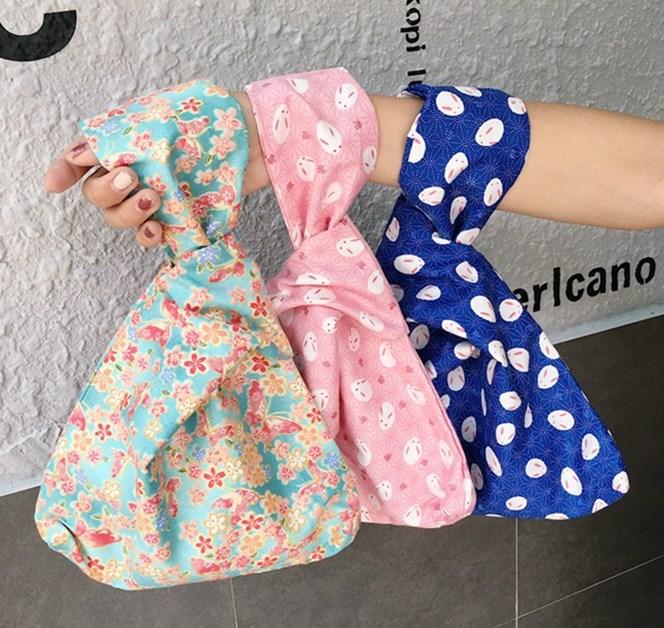 ハンドバッグ 和風 小物入れ 多機能 便利 巾着袋 片手