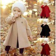女の子  長袖 コート  子供コート 子供服 キッズ服  秋冬物 カジュアル系 ラシャコート