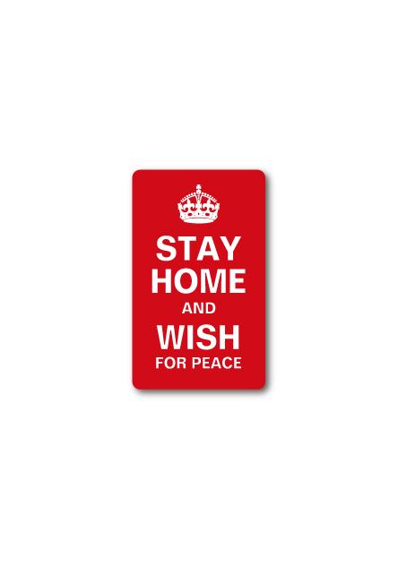 STAY HOME AND WISH FOR PEACE おうちにいよう S コロナウィルス対策 自粛 ステッカー GSJ090 2020新作