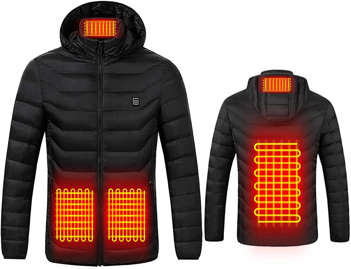 電熱ジャケット USB加熱 電熱服 電熱ウェア ヒーター内蔵 暖房服 ヒートジャケット 作業服 コート