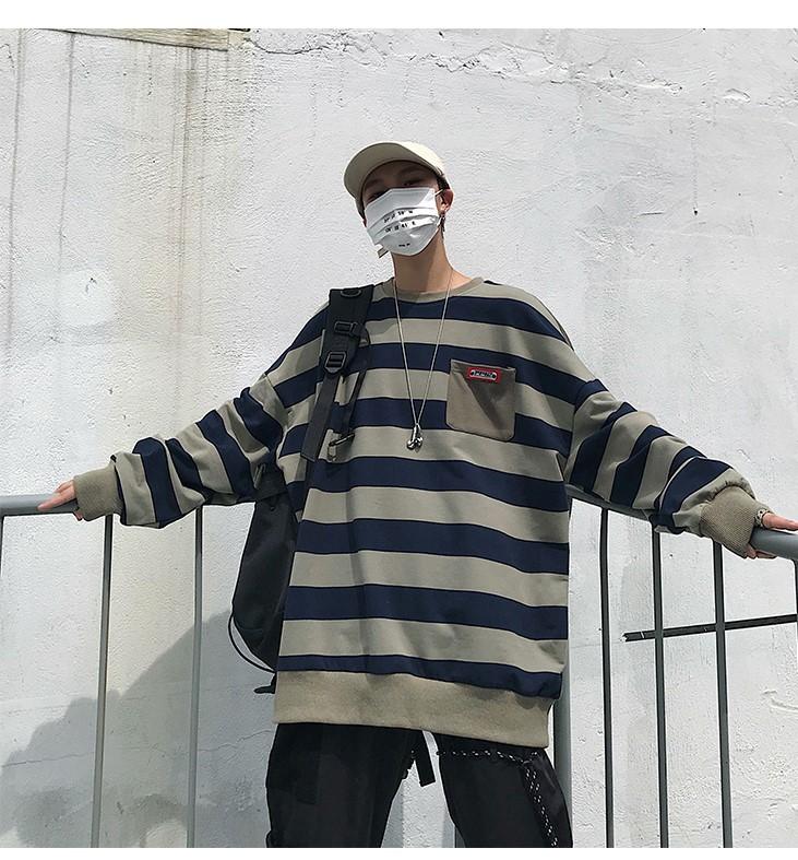 ストライプTシャツ 長袖 メンズ 夏秋  オシャレ