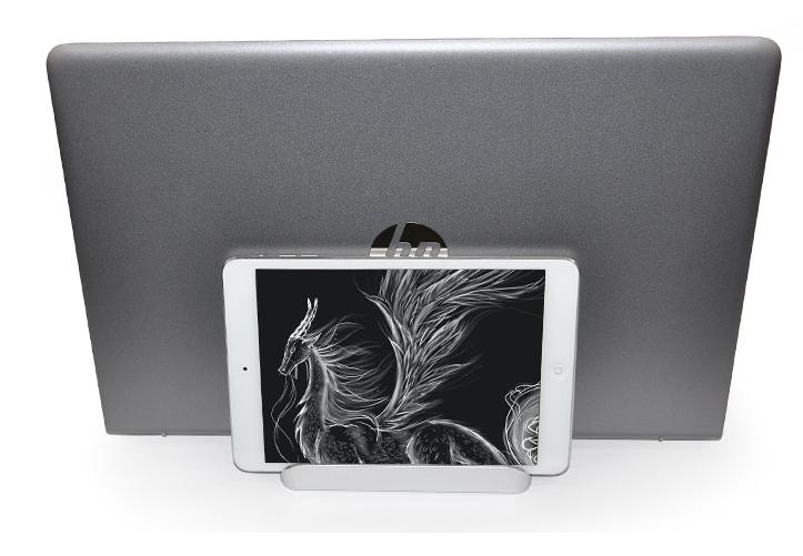 ノートパソコン スタンド  収納 MacBook iPad 一台三役 幅調節可能