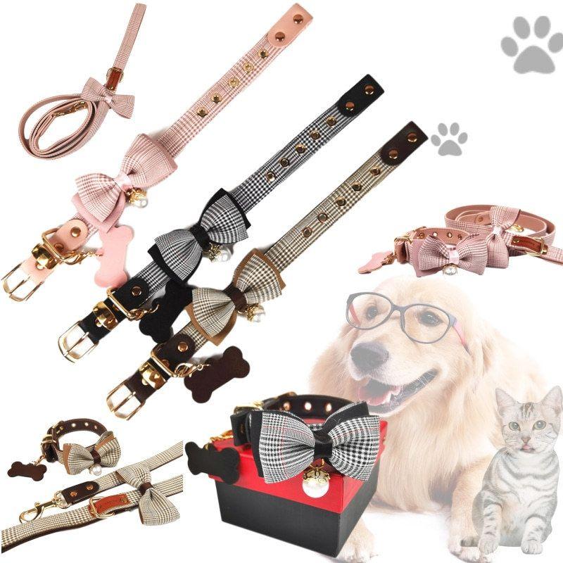 ペット用品 首輪 リボン 小型犬 中型犬 猫 かわいい リード ハーネス メーカー直送