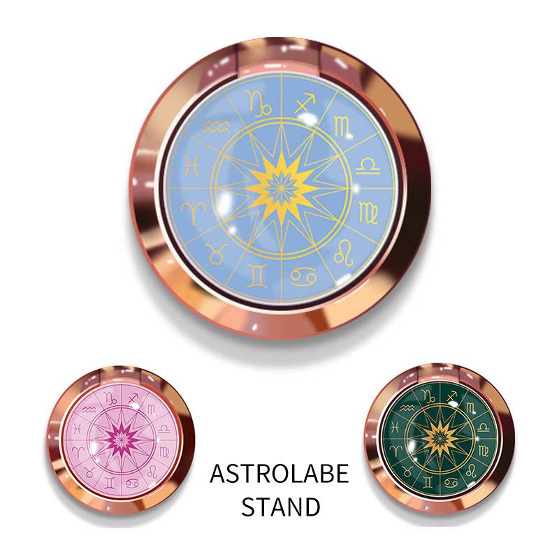 スマホリング リング スタンドリング スマホスタンド アストロラベ 星座 指輪 落下防止 全機種対応