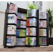 DVDで最大400収納書棚ストッカー ダークブラウン 日本製