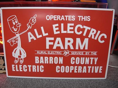 ALL ELECTRIC FARM MDFボードサイン