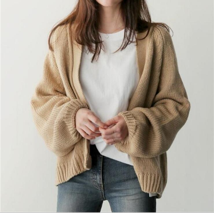 秋冬新作 韓国風 レディース カーディガン セーター  緩い  ショート セーターコート