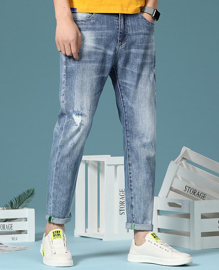 話題の注目アイテム 春 ズボン ジーパン 韓国スタイル スリム 長ズボン ボトム メンズ パンツ デニムパンツ