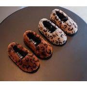 【子供靴】子供靴 カジュアル系 ふわふわ 冬 ヒョウ柄 13-21cm 男女兼用 キッズ靴