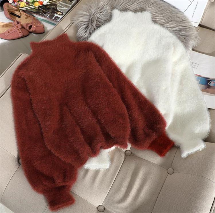 今シーズン大注目!激安セール セーター 短いスタイル ランタンスリーブ 暖かい  シック ニット