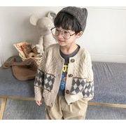 秋 子供セーター 女の子 男の子 子供服 トップス ニット コート 90-140 2色