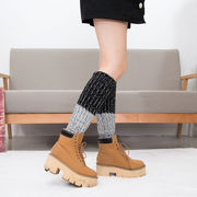 足首ウォーマー カバー レッグウォーマー ロング 30cm 五色 4入 ニット 編み 靴下 防寒