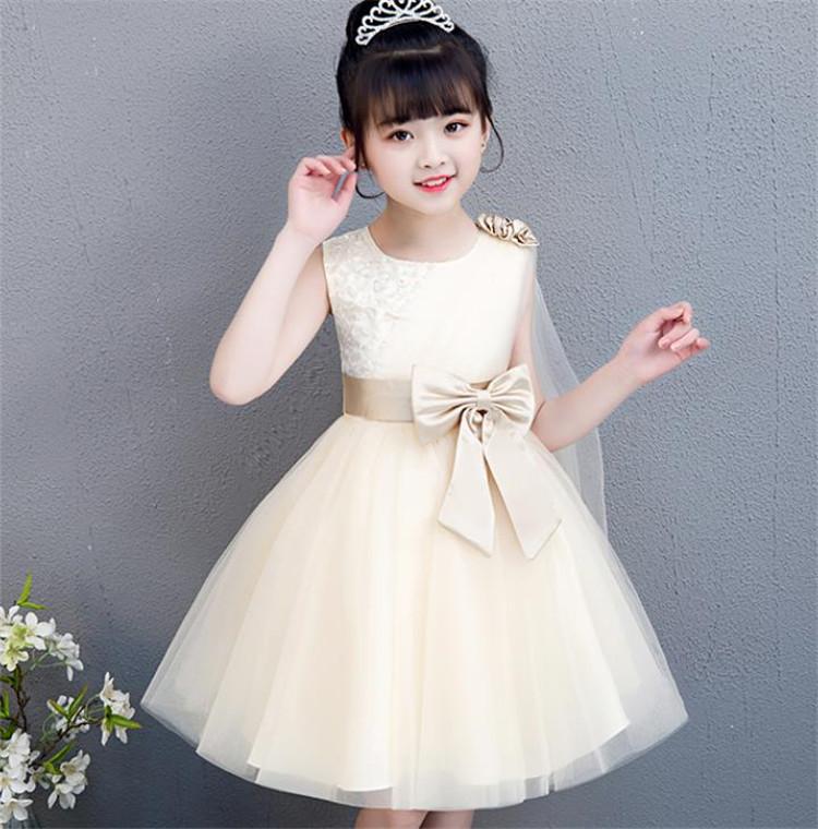大人気!2020年新品 流行のキッズ服  お姫様ドレス ワンビース 袖なし 長袖 蝶結び 女の子 結婚式