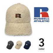 【全3色】RUSSELL ATHLETIC ラッセルアスレチック ロゴ刺繍 ボア ベースボールキャップ