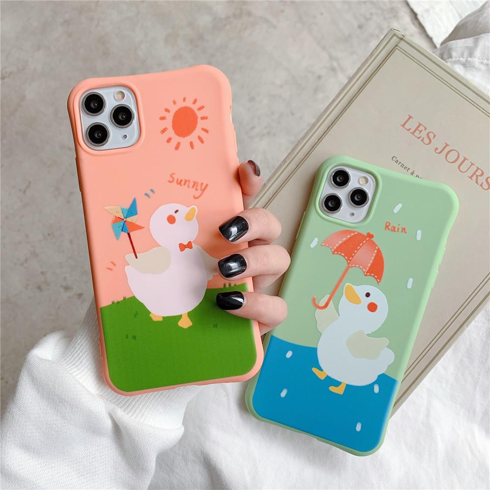 スマホケース iPhone SE2 ケース アヒル ソフト携帯ケース