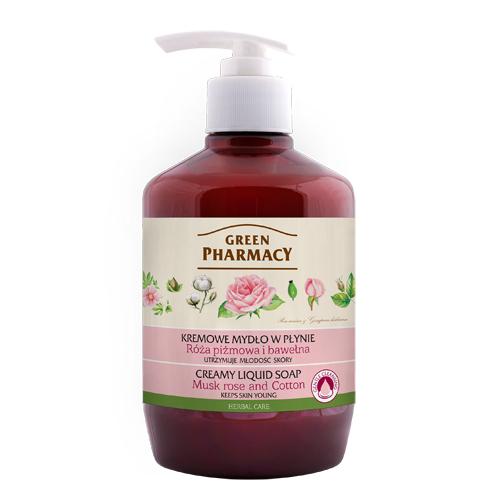 Elfa Pharm Green Pharmacy Creamy Liquid Soap リキッドソープ ムスクローズ&コットン