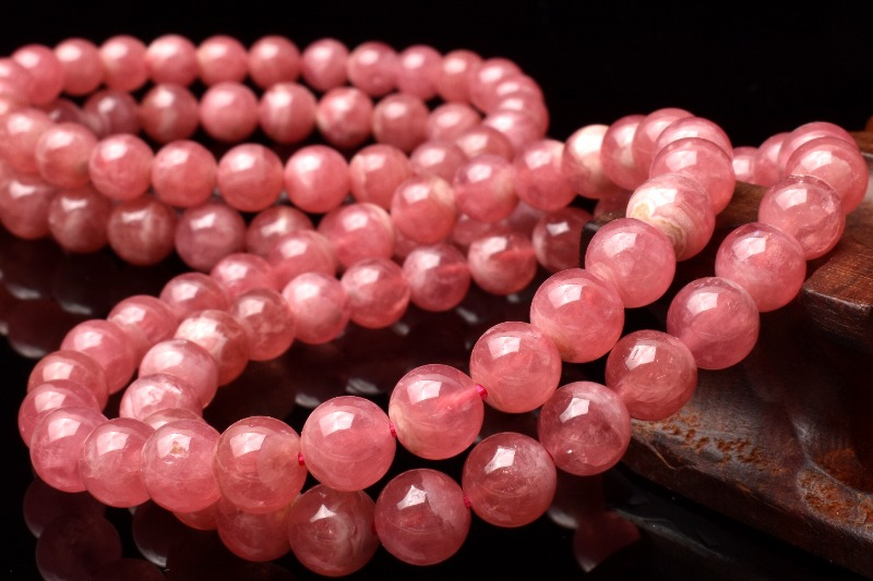 ピンクの発色が可愛い! インカローズ 7mm ブレスレット_BG1893-7