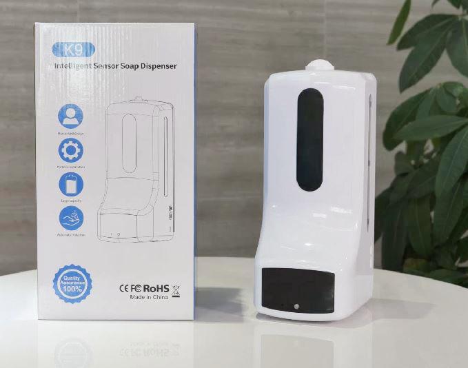 【お一人様1点限り】測温と消毒液の二刀流 K9自動測温付きディスペンサー 1ケース(6個入り)非接触
