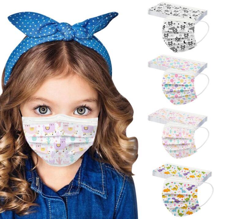 春夏子供マスク 使い捨てマスク3層保護  不織布マスク