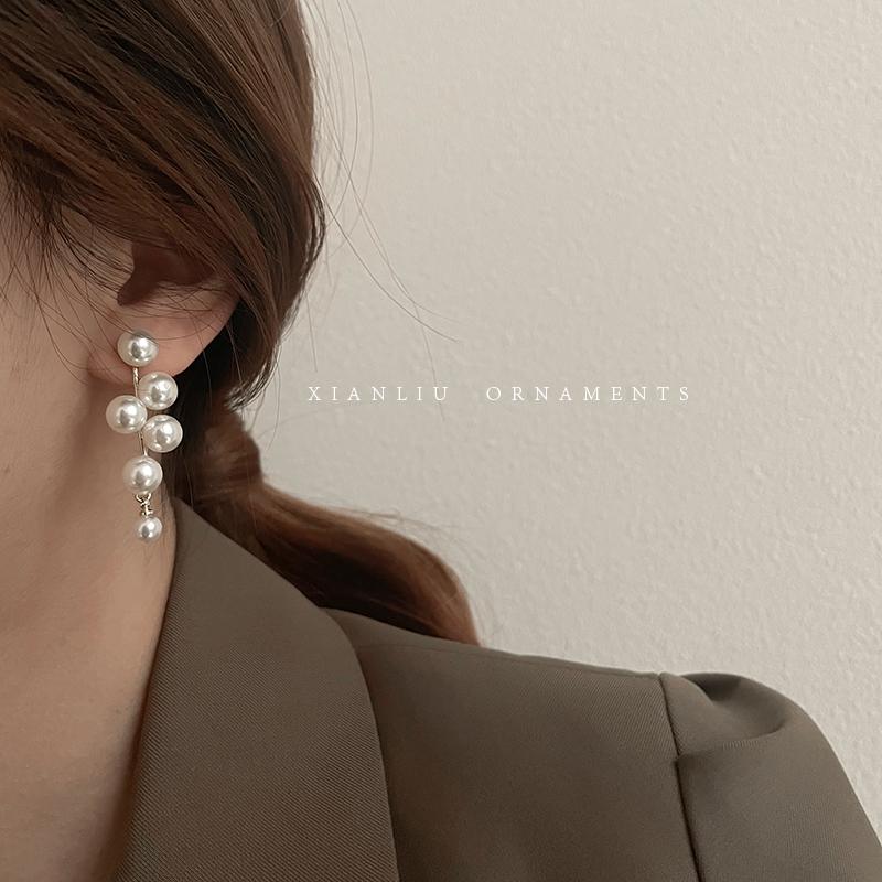 レトロな雰囲気を漂わせる 韓国スタイル 上品 美しい ピアス 結婚式 シンプル アクセサリー