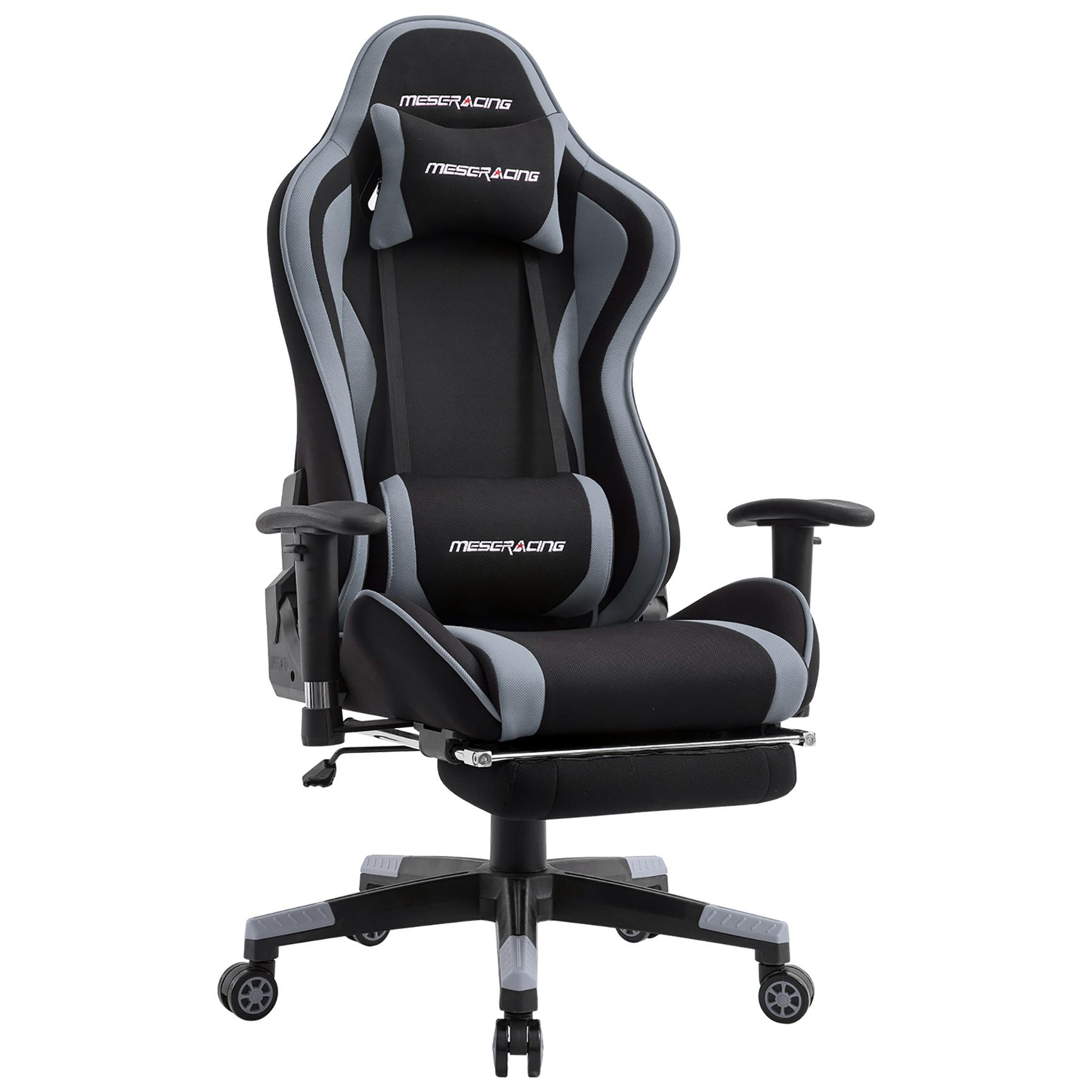 【国内発送】ゲーミングチェア オットマン付き 通気性抜群 gaming chair 腰痛対策 オフィス PP-142