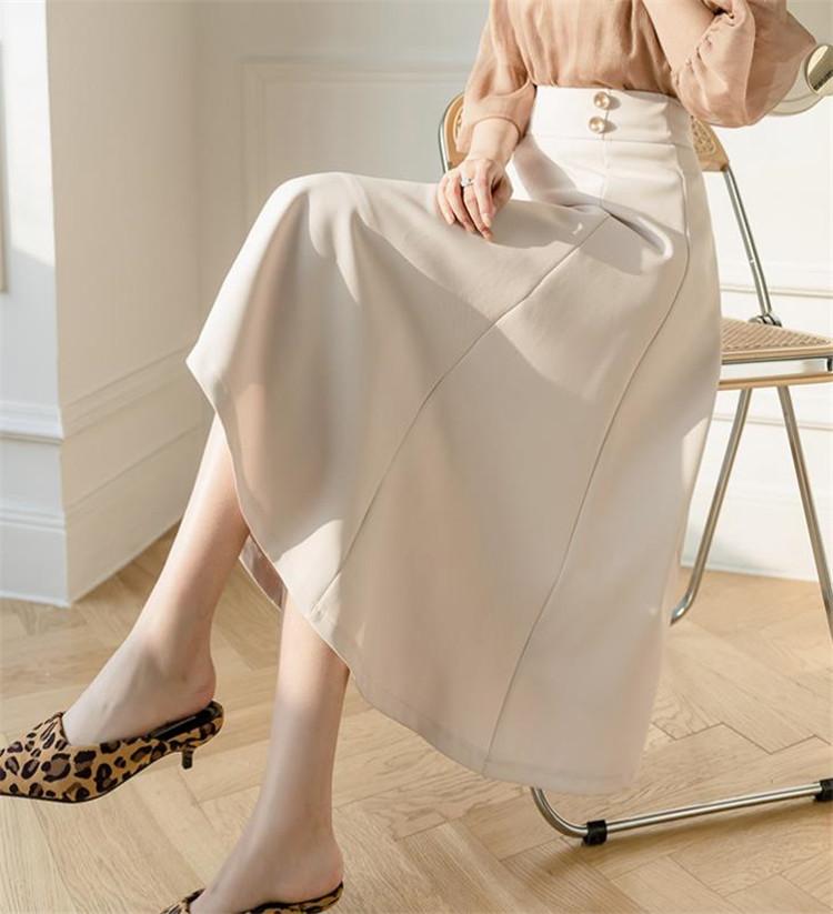 二文字:絶美 韓国ファッション スカート ヤングスタイル スリム ハイウエスト 中・長セクション