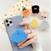 キャラクター 落下防止 スマホリング スマホホルダー 携帯電話 全種類対応 装飾 可愛い