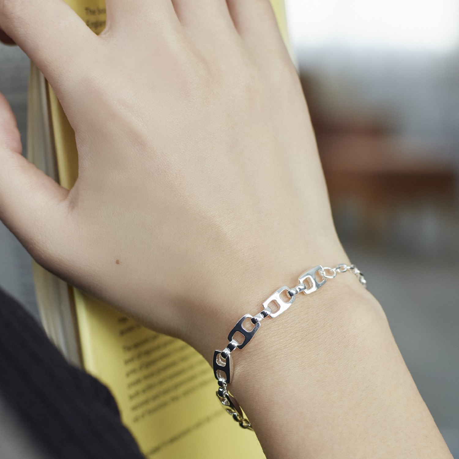 【Nothing And Others/ナッシングアンドアザーズ】Square Chain bracelet