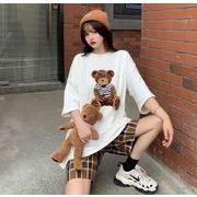 【海外買付】人気Tシャツv-bb01a-1125【2020春夏新作】レディース/熊図案/カワイ/ボーイッシュ