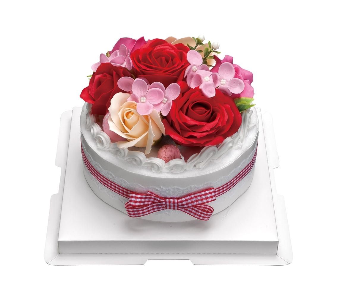 フラワーデコレーションケーキ  ソープフラワー 母の日 入学 移転 引越 祝