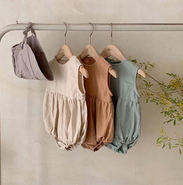 超人気ベビー服 ロンパースジャンプスーツ シャツデザイン シンプル オシャレ