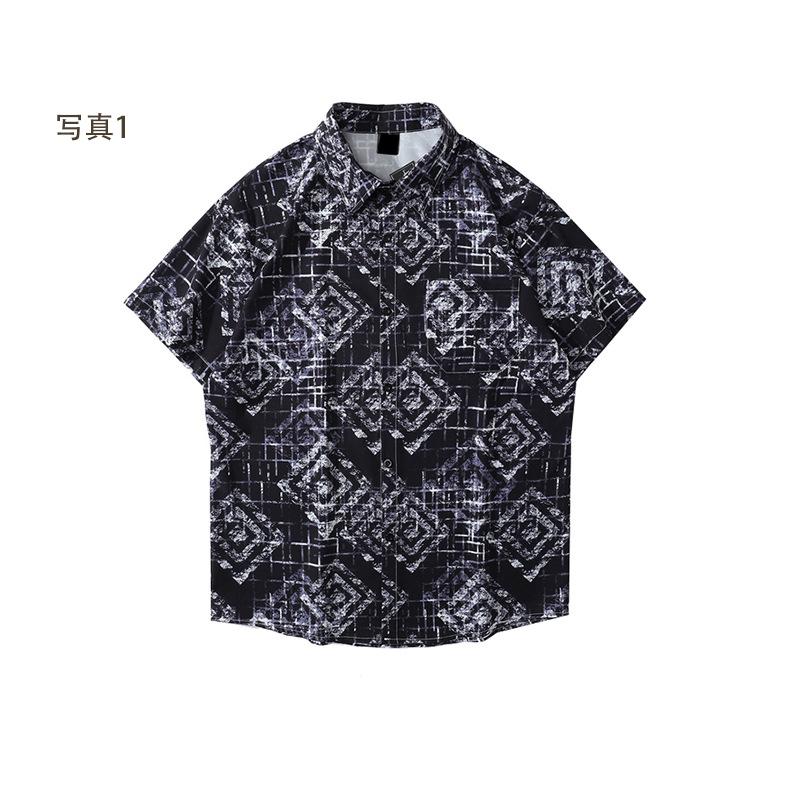 P10136 メンズファッション 渋谷風 半袖シャツ 男女兼用  SALE 半袖 ファッション 紫外線対策 日焼け止め