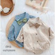 2021春夏新作 ベビー服 ロンパース 赤ちゃん 男の子 ベビー ジャンプスーツ 可愛い  蝶結び かっこいい