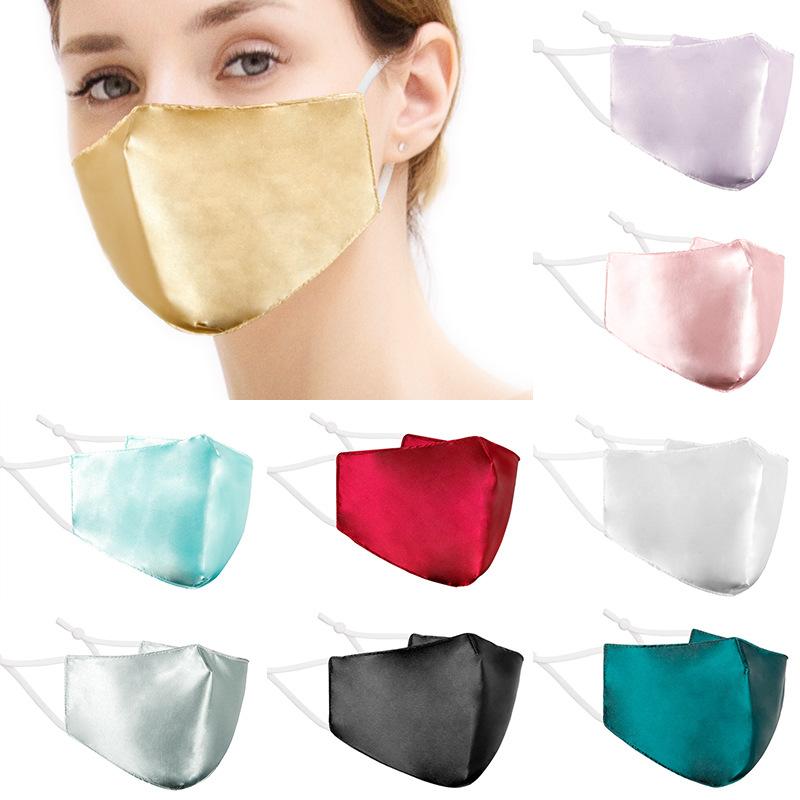春夏新作 シルクマスク 冷感マスク 繰り返し使えるマスク男女兼用  洗えるマスク 飛沫防止