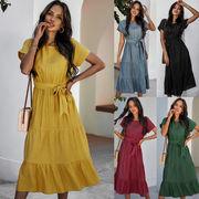 優しい着心地 レディースファッション 春夏 人気商品 シンプル ワンピース スカート