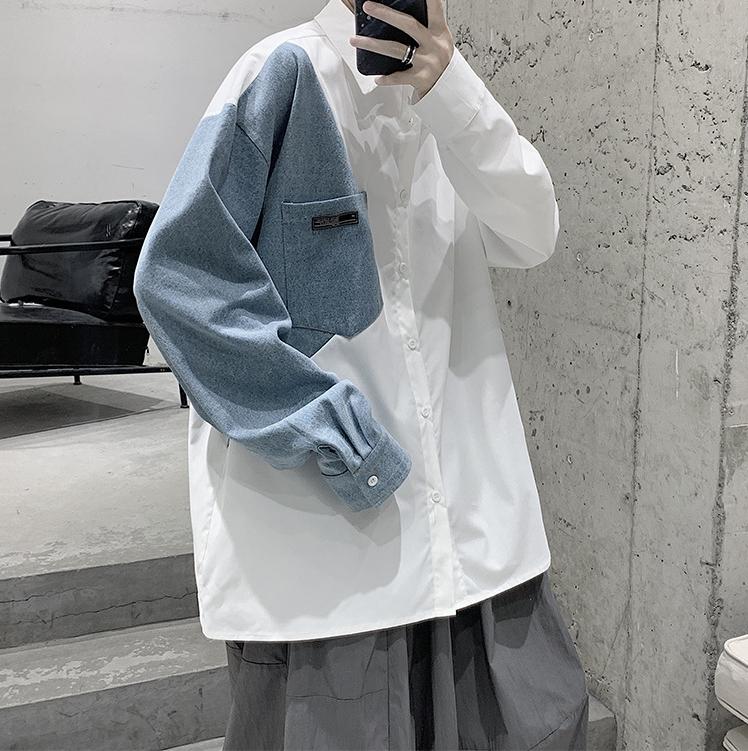 春 シャツ カジュアル ジャケット ゆったり 長袖 上着 アウター メンズ 韓国ファッション トップス