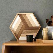 トレイ トレー お盆 プレート 木製 キッチン 北欧 モダン おしゃれ カフェ 六角形 YMB463