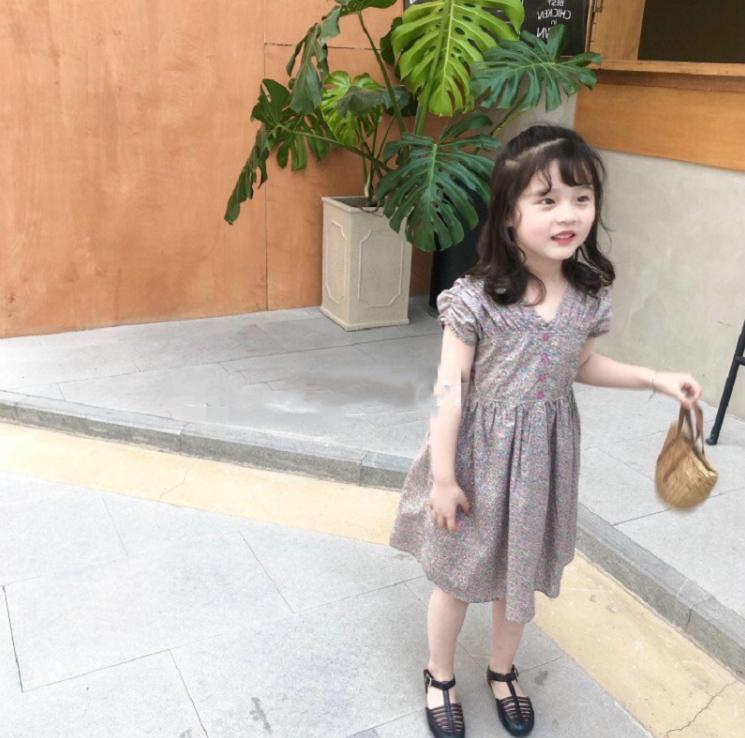 子供服 夏 女の子 韓国スタイル 夏服 ワンピース お姫様ドレス キッズ 3-8歳