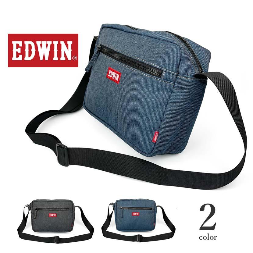 全2色 EDWIN エドウイン デニム素材 ショルダーバッグ
